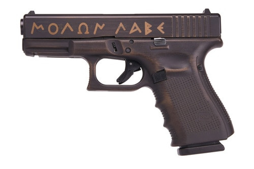 Glock 19 Gen 4 Spartan Edition MOLON LABE 9mm 15rd Mag
