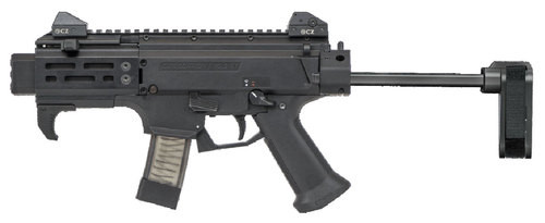 "CZ Scorpion EVO 3 S2 Micro 9mm, 4.12"" Barrel, SB CZPDW Brace, Black, 10rd"