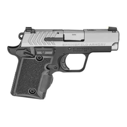 "Springfield 911 Micro Compact 9MM 3"" Barrel, SS Slide, Viridian Green Laser, Tritium Night Sights 1-6Rd & 1-7Rd Mag"