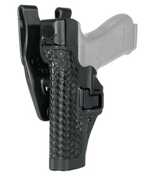 Blackhawk Level 3 SERPA Auto Lock Duty Basket Weave Black LH For Glock 17/19/22/23/31/32