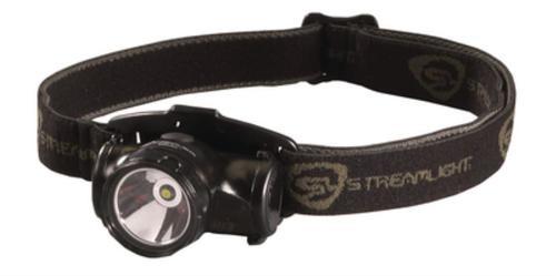 Streamlight Enduro with alkaline batteries. Visor Clip and Elastic Strap. Black