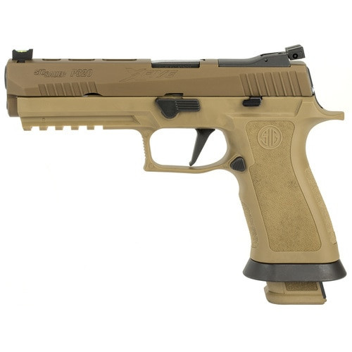 "Sig P320 X-Five Coyote, 9mm, 5"", Fiber Optic Sights, Adjustable Rear Sight, (4) 21rd Magazines"