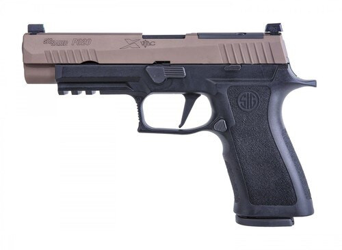 "Sig P320, X-VTAC, Striker Fired, Full Size, 9mm, 4.7"", Polymer, Black Frame, Coyote Slide, VTAC Day/Night Sights, 3 Mags, Modular X Grip, Optic Ready, 17Rd"