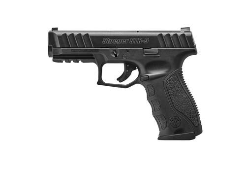 "*D*Stoeger STR-9 9mm, 4.17"" Barrel, Striker-Fired, 15rd, Black, 3 Mags & 3 Backstraps"