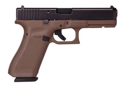 Glock 17 Gen 5 9mm Flat Dark Earth Frame Fixed Sights 17rd Mag