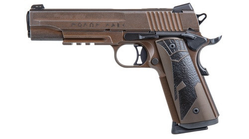 "Sig Spartan II 1911, 45 ACP, 5"", 8rd, Distressed Coyote Finish"