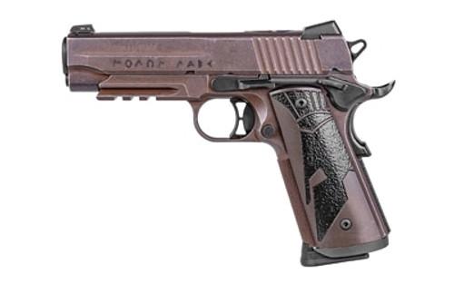"Sig 1911 Spartan II Carry, 45 ACP, 4.2"", 8rd, Distressed Coyote Brown"