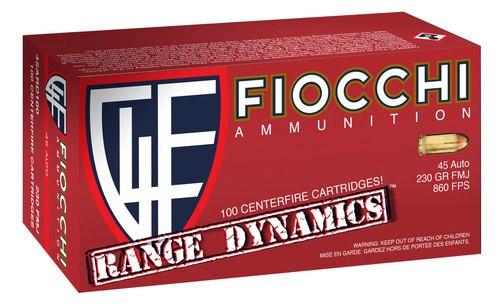 Fiocchi Range Dynamics 45 ACP 230gr, FMJ, Range Pack, 100rd/Pack