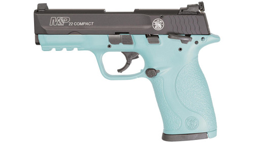 "Smith & Wesson M&P P22 Compact, .22LR, 3.6"", 10rd, Robin Egg Blue"