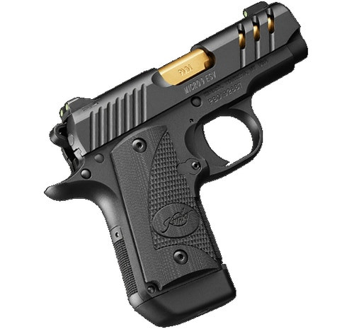 "Kimber Micro 9 ESV 9mm, 3.15"", Black, TiN Gold Barrel, 7rd"