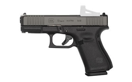 "Glock G19 Gen5 M.O.S. 9MM, 4"" Marksman Barrel, Fixed Sights, Ambi Slide Stop, Flared Mag Well, 10rd Mag"