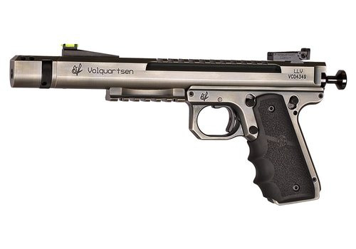 "Volquartsen Scorpion .22 LR, 6"" Barrel, 1911 Style Target Frame, Battleworn Finish"