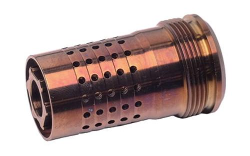 Q Cherry Bomb, Muzzle Brake, 5/8X24, Fits Q Suppressors
