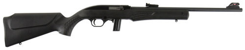 "Rossi 22LR, 18"" Barrel, Black, Synthetic Stock, 10Rd, Adjustable Fiber Optic Sights"