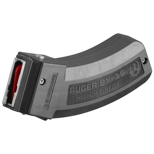 Ruger Magazine BX-15, 17 HMR, 22 WMR, 15Rd, Black, Fits M77/17, 77/22, American Rimfire and Precision Rimfire