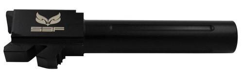 "S3F Glock 19 9mm 4"" Threaded Barrel, Fluted Black Nitride"