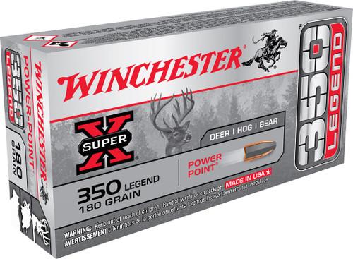 Winchester Super-X, 350 Legend, 180gr, Power Point, 20 Round Box