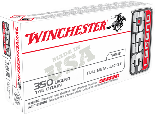 Winchester USA, 350 Legend, 145gr, Full Metal Jacket, 20 Round Box