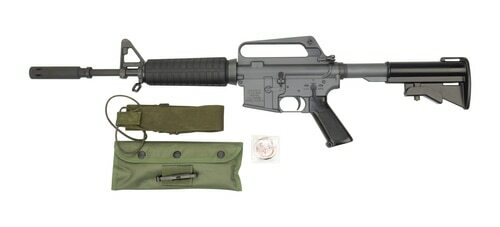 "Troy XM177E2 Commemorative AR-15 Carbine 223/556, 12.5"" Barrel, 4.5"" Moderator, Period Corect Kit, 20 and 30rd Mag"