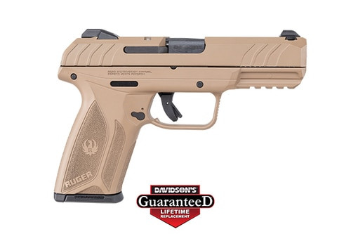 "Ruger Security-9 Pistol, 9mm, 4"", 15rd, Flat Dark Earth, Integral Grip"