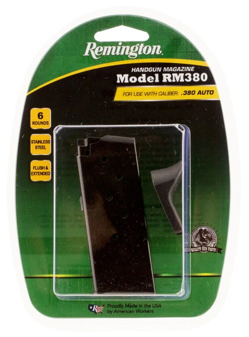 Remington RM380 Magazine 380 ACP, Black, 6rd