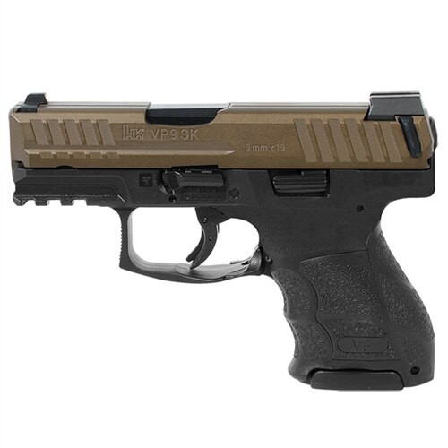 HK VP9SK 9mm Midnight Bronze Night Sights With 3 10 Round Mags