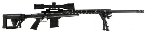 "Howa 1500, Bolt Action Rifle, 308 Winchester, 24"" Heavy Threaded Barrel, Black, Gray & White American Flag Finish, Polymer Stock, Right Hand, Bipod, 10rd Mag, 4-16x50 Scope Included"