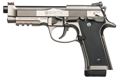 "Beretta 92X Performance 9mm, 4.9"" Barrel, Target Sights, Nistan Alloy Finish, 10rd"