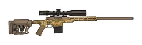 Howa APC Rifle/Scope Combo, .22-250 REM Aluminum Chassis, Luth AR MultiCam/FDE Camo, 4-16 Scope