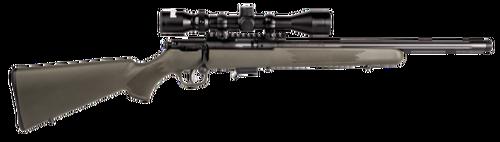 "Savage 93R17 FVXP 17 HMR, 18"" Threaded Fluted Heavy Barrel, Bushnell 3-9x40, OD Green Stock, 5rd Mag"