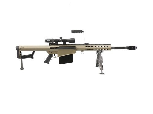 "Barrett 82A1 System, .50 BMG, 20"" Barrel, Flat Dark Earth, Nightforce 5-20x56 Scope"