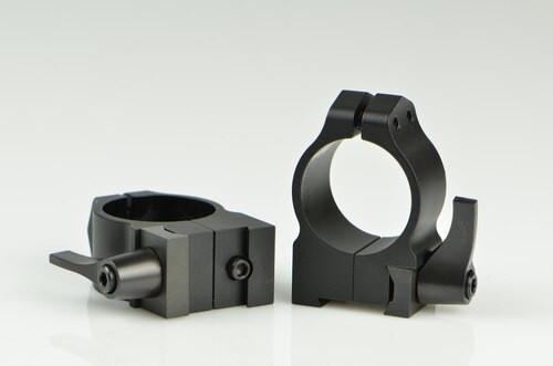 Warne CZ 527 1 Inch CZ, QD, Med Matte Rings, 16mm Grooved Receiver