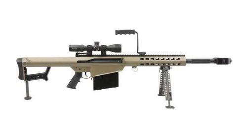 "Barrett M82A1, .50 BMG, 20"" Barrel, Flat Dark Earth, NightForce SHV4-14x56 Scope, 10rd"