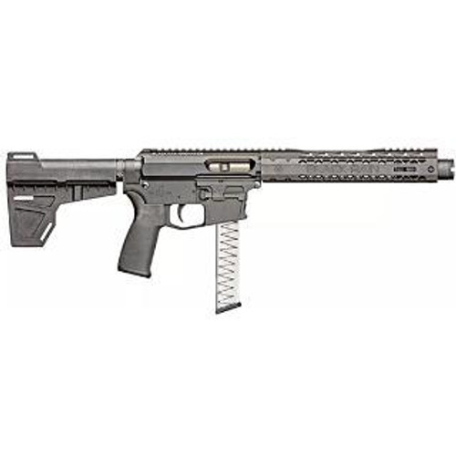 "Black Rain ION 9 AR-15 Pistol, 9mm, 8.75"" Barrel, KAK Shockwave Blade Brace, Glock Magazine"
