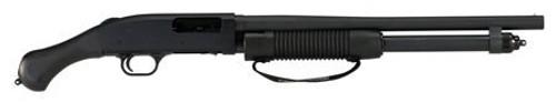 """Mossberg 590 Shockwave, 12Ga, 18.5"""" Barrel, 3"""" Chamber, 6rd, Synthetic Black Raptor Grip, Blued"""