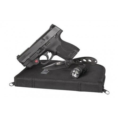 "Smith & Wesson M&P Shield M2.0 EDC Range Kit, 9mm, 3.1"", Crimson Trace, 8rd"