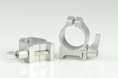 Warne 1 Inch, QD, Low Silver Rings, Steel, Fixed for Maxima/Weaver Style or Picatinny Bases