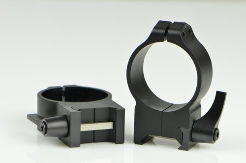 Warne 34mm, QD, High Matte Rings, Steel, Fixed for Maxima/Weaver Style or Picatinny Bases