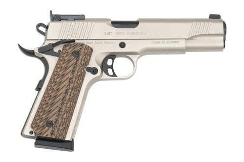 "Girsan MC1911 Match 45 ACP, 5"" Barrel, Ambi Safety, Nickel, 8rd"