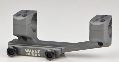 Warne 20Moa, Extended Skeletonized 1 Inch MSR Mount, Tactical Gray, Long Range Rail Mount for Picatinny Rail/Flat Top MSR