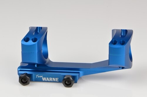 Warne Gen 2, Extended Skeletonized 34mm MSR Mount, Blue, Fixed MSR for Picatinny Rail/Flat Top MSR
