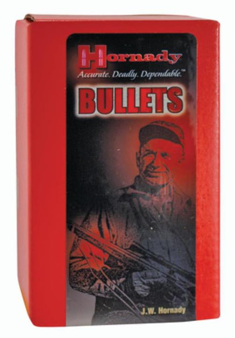 Hornady Match Bullets .277 Diameter 110 Gr, Boattail Hollow Point With Cannelure, 100/Box