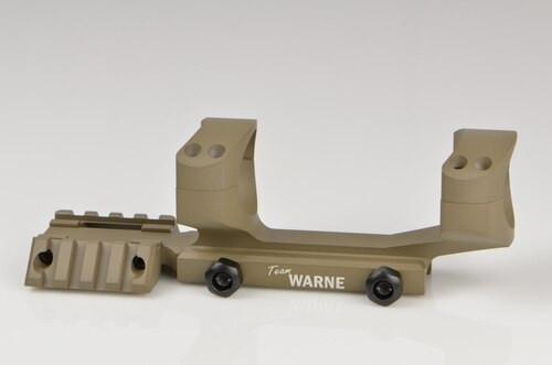 Warne Scope Mounts, RAMP Rapid Acquisition Multi-Sight Platform, 1 Piece Base, For AR-15, 30mm, Dark Earth Finish