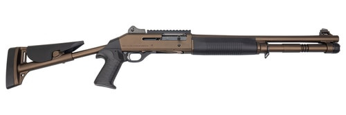 "Benelli M1014 Limited Edition 12 Ga, 18.5"",, , Midnight Bronze, Ghost Ring Sights, Fixed Pistol Grip Stock,  5 rd"