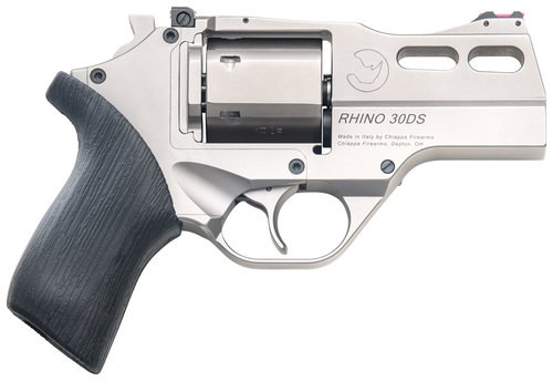 "Chiappa Firearms Rhino 30DS 357 Mag, 3"" Barrel, Nickel, 6rd"