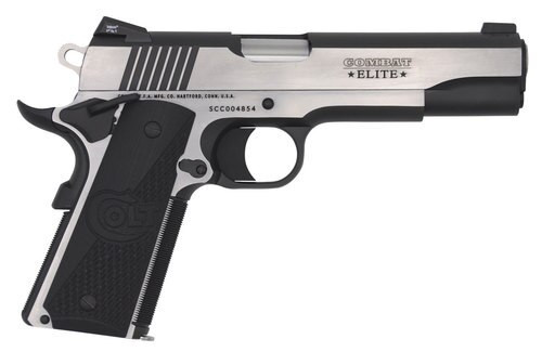 "Colt Combat Elite Government, 9mm, 5"" Barrel, 8rd, 2-Tone, Night Sights"