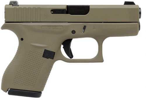 "Glock G42, .380 ACP, 3.25"" Barrel, 6rd, Flat Dark Earth"