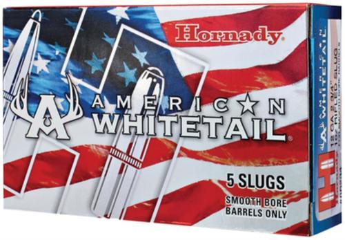 """Hornady American Whitetail Slug for Smooth-Bore Barrels 12 Ga, 2.75"""", 1oz, Foster Style Slug, 5rd/Box"""