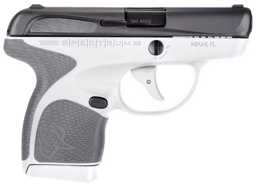 "Taurus Spectrum, .380 ACP, 2.8"" Barrel, 7rd, White Frame, Gray Grip"