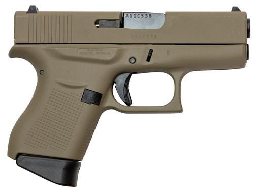 "Glock G43, 9mm, 3.41"" Barrel, 6rd, Flat Dark Earth, US Made"